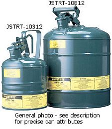 "Type I Green Flammables (Oils) Safety Can, 1-gal., 7.25"" x 11.5"""