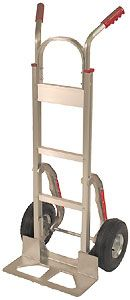 Aluminum Handtruck w/ Stairclimbers & Double Grip Handle, Mold-On Wheels