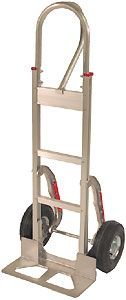 Aluminum Handtruck w/ Stairclimbers & D-Loop Handle, Mold-On Wheels
