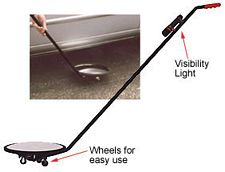 Convex Inspection Mirror with Wheels & Light