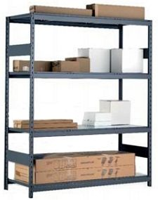 "Medium Duty Mini-Rack Shelving - 48"" W x 24"" D x 75""H, Starter w/ 4 Shelves & Steel Decking"