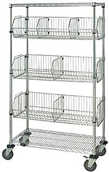 "Mobile Basket Unit, 24""W x 48""L x 69""H"