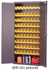"Pick Rack Cabinet - 36""W x 18"" d x 78""H w/ with 45 QSB102 Bins"