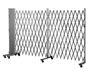 "Portable Folding Gate, Aluminum - 12' Wide - Starter, 78"" Collapsed Height"