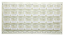 "Louvered Panel - Oyster White, 36""W x 19""H w/ 32 Clear View 5-3/8"" x 4-1/8"" x 3"" Bins"