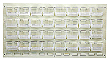 "Louvered Panel - Oyster White, 36""W x 19""H w/ 32 Clear View 7-3/8"" x 4-1/8"" x 3"" Bins"