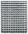 "Louvered Panel - Gray, 48""W x 61""H w/ 165 Clear View 7-3/8"" x 4-1/8"" x 3"" Bins"