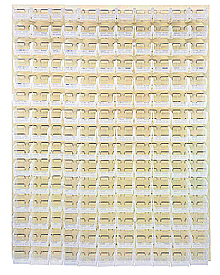 "Louvered Panel - Beige, 48""W x 61""H w/ 165 Clear View 7-3/8"" x 4-1/8"" x 3"" Bins"
