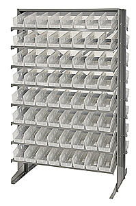 Double-Sided Pick Rack System w/ 128 Clear View Bins