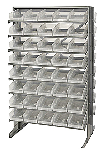 Double-Sided Pick Rack System w/ 80 Clear View Bins