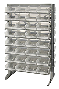 Double-Sided Pick Rack System w/ 64 Clear View Bins