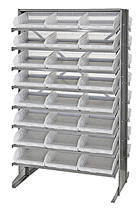 Double-Sided Pick Rack System w/ 48 Clear View Bins