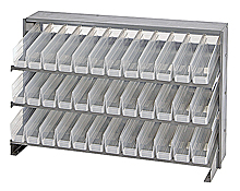 Bench Pick Rack System w/ 38 Clear View Bins