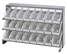 Bench Pick Rack System w/ 24 Clear View Bins