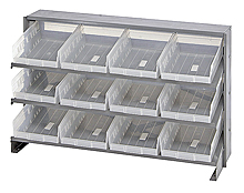 Bench Pick Rack System w/ 12 Clear View Bins