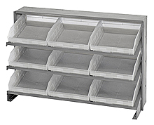 Bench Pick Rack System w/ 9 Clear View Bins