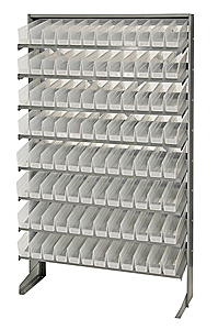 Single Sided Pick Rack System w/ 96 Clear View Bins