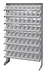 Single Sided Pick Rack System w/ 64 Clear View Bins