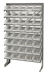 Single Sided Pick Rack System w/ 40 Clear View Bins