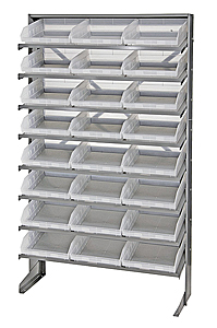 Single Sided Pick Rack System w/ 24 Clear View Bins