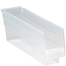 "Clear View 4"" Economy 11-5/8"" x 2-3/4"" x 4"" Shelf Bins - Qty: 36"