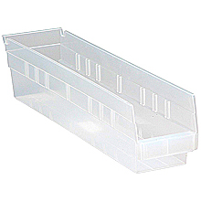 "Clear View 4"" Economy 17-7/8"" x 4-1/8"" x 4"" Shelf Bins - Qty: 20"