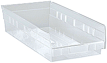 "Clear View 4"" Economy 17-7/8"" x 6-5/8"" x 4"" Shelf Bins - Qty: 20"