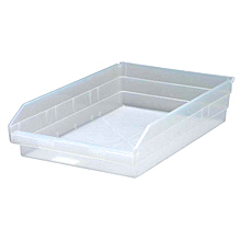 "Clear View Economy Shelf Bins - 17-7/8"" x 11-1/8"" x 4"", Carton of 8"