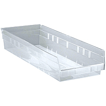 "Clear View 4"" Economy 23-5/8"" x 8-3/8"" x 4"" Shelf Bins - Qty: 6"