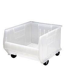 "Clear View Extra Large 24"" Mobile Clear View Containers, Qty: 1"