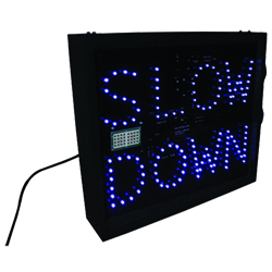 LED Forklift Speed Alert Sign - Radar Controlled