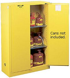 Safety Cabinet - 65 x 43 x 18, 45-gal., 2-shelf, Sure-Grip Handle, 2 door, self-close