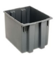 Carton of 6-ea. 19-1/2L x 15-1/2W x 13H Stack & Nest Totes with 1.7 Cubic Feet Cap.