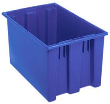 Carton of 3-ea. 23-1/2L x 15-1/2W x 12H Stack & Nest Totes with 1.7 Cubic Feet Cap.