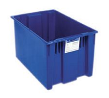 Carton of 3-ea. 29-1/2L x 19-1/2W x 15H Stack & Nest Totes with 3.7 Cubic Feet Cap.