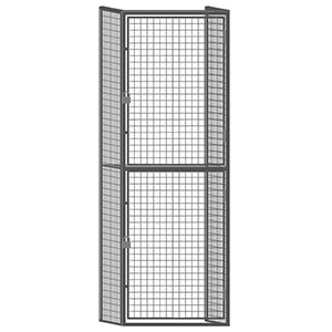 "Wire Mesh Tenant Locker - 3'W x 3'D x 7'6""H Double Tier Starter with Open Top"