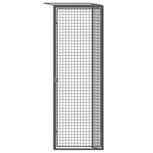 "Wire Mesh Tenant Locker - 3'W x 4'D x 7'6""H Single Tier Adder with Ceiling"