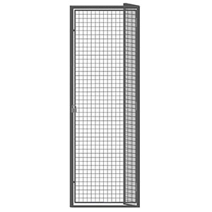 "Wire Mesh Tenant Locker - 3'W x 4'D x 7'6""H Single Tier Adder with Open Top"