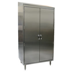 "Stainless Steel Cabinet with Slanted Top - 24"" x 36"" - 4 Shelves"