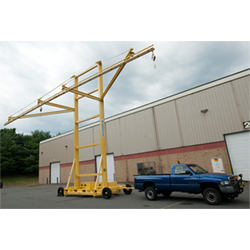 Wheel Mounted Mobile Tie-Off System, 20' Single Track, 12' Arm Reach, 1 Person Cap.