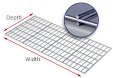 "Wire Decking for Rivet Shelves, 24""d x 48""w, 500 Lbs. Cap."