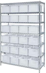 Clear View Bin Wire Shelving Systems | Bin Storage |