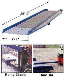 Steel Yardramp With Steel Grating 36ft long - 16,000 lb. capacity