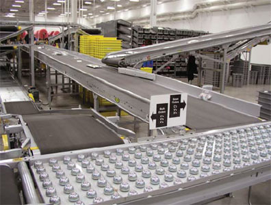 Expanded distribution center conveyor system for Mouser Electronics