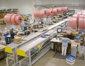 Mouser Electronics expanded distribution center conveyor system
