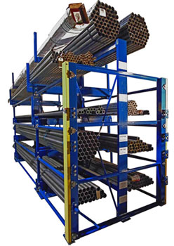 high-density pipe storage crank out rack