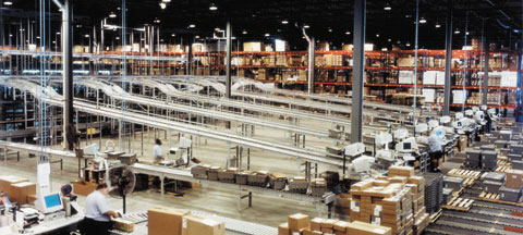 distribution center conveyor system