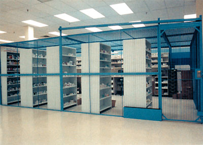 Secure cages for controlled substances