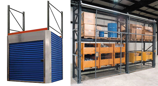 Secure rack and shelving systems