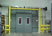 internal dock door with goal post protection